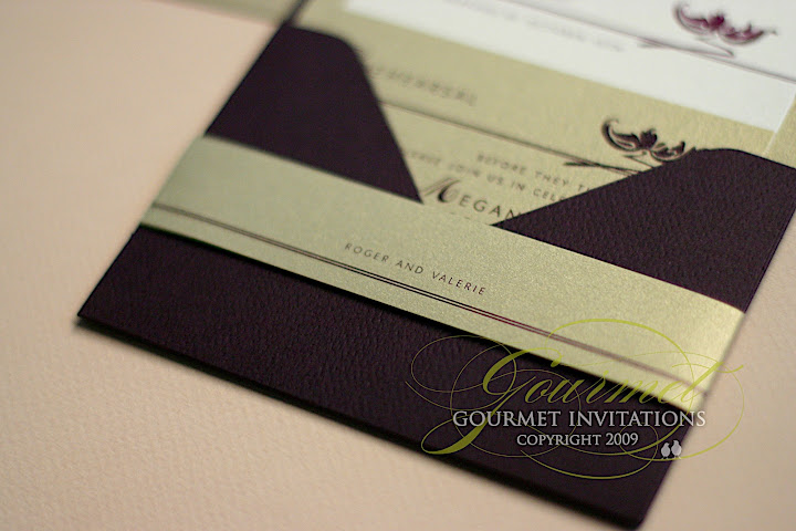 Gourmet Invitations belly band RSVP