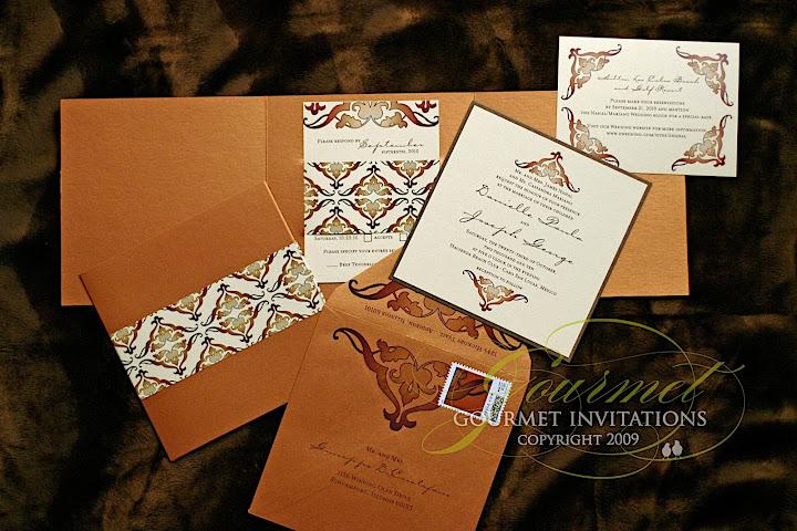 Gourmet Invitations amber invitations