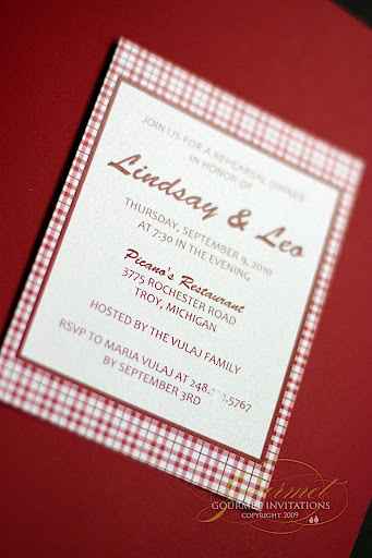 There Is Always Such A Fun And Festive Atmosphere. Lindsayu0027s Rehearsal  Dinner Took Place At A Local Italian Restaurant And I Designed The  Invitations With A ...