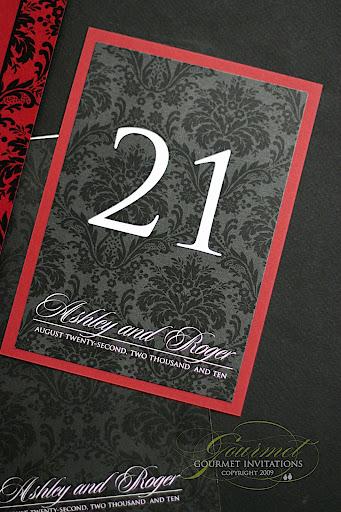 Ashley 39s Red and Black Damask Wedding Reception