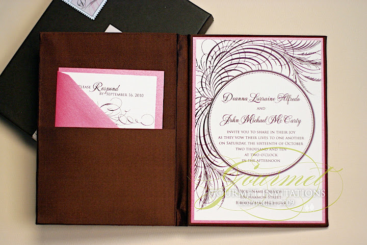 Gourmet Invitations pink lush