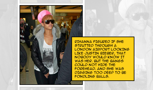 The Forehead scratches it out [by Random J ;P] | photo courtesy of Ultimate-Rihanna.com