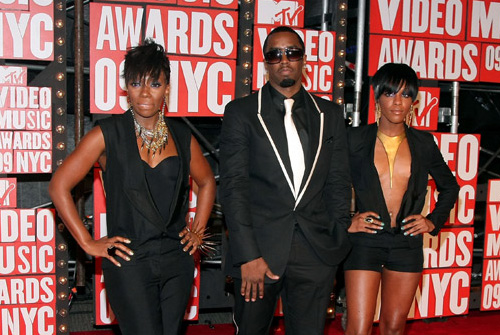 P. Diddy & Dirty Cash on the red carpet at the VMA's [image courtesy of Getty images and MTV]
