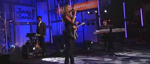Leona Lewis performs 'Happy' and 'Outta my head' @ Jimmy Kimmel live