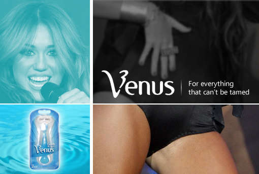 Gillette Venus sponsors Miley Cyrus | 'shopped by J ;P