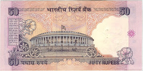 Image of 50 Rupees Notes Indian Currency