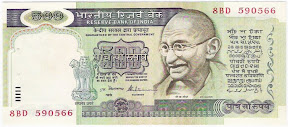 Image of 500 Rupees Notes Indian Currency
