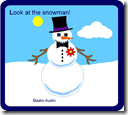 printable snowman