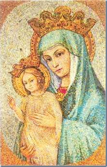 MAMÁ MARÍA Y JESÚS (imagen que está en la Plaza de san Pedro)