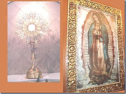 La Bella María de Guadalupe con Jesús Sacramentado