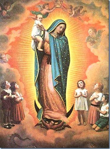 MAMÁ MARÍA DE GUADALUPE CUIDA A LOS NIÑOS