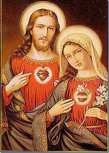 Sagrados Corazones de Jesús y la Bella María
