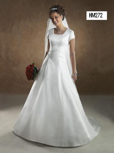 HM272 ; Modest Wedding Dress Bridal Gown