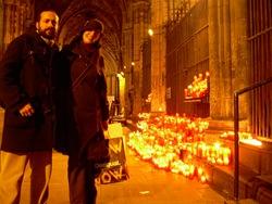 Mireia y yo. Claustro de la catedral,Barcelona