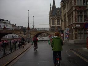 Sieska pedaleando en Gante