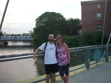 con Maja en Breslavia