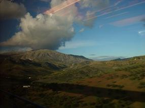 Vista desde el AVE, en algún lugar de Andalucía