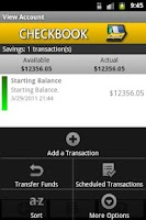 Screenshot of Checkbook (free)