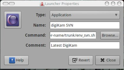 digikam launcher