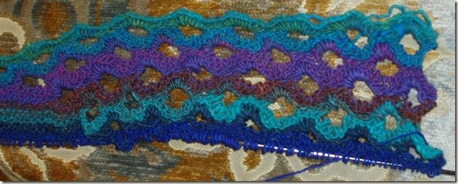 fishtail scarf in progress