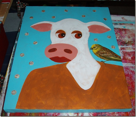cow in process three