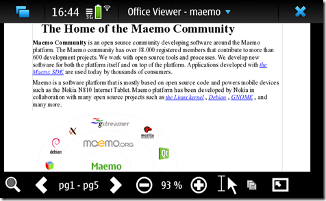Maemo: gestire i documenti office.