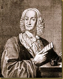 A portrait of Antonio Vivaldi in 1725