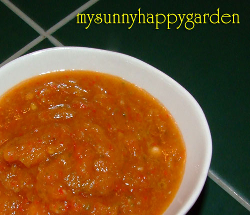 My sunny happy garden pineapple chilli sauce for Pineapple sauce for fish