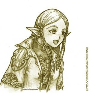 Akira, elfa de la luz en Lirein