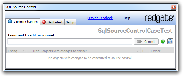 No changes to commit in SQL Source Control