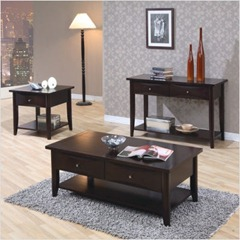 Calimesa Coffee Table Set in Cappuccino