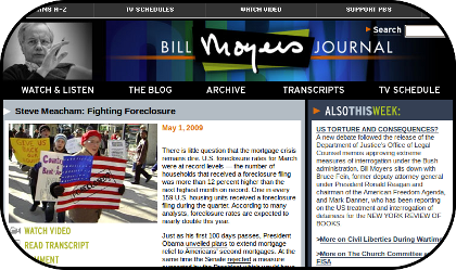 Bill Moyer's Journal, a view of foreclosures and the economic crisis in America