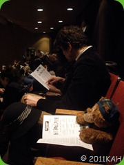 Sleepy Bear Sitting in Audience - 2
