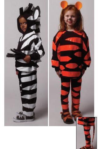 Disfraz casero muy f cil de tigre y cebra for Disfraz de cebra