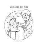 derechos del niños para colorear