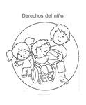 Láminas derechos del niños para colorear