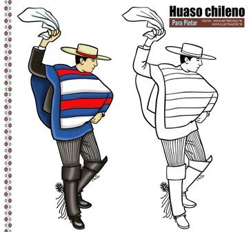 dibujo-huaso-chileno-pintar
