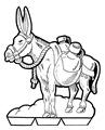 11-Belén recortable 001 burro
