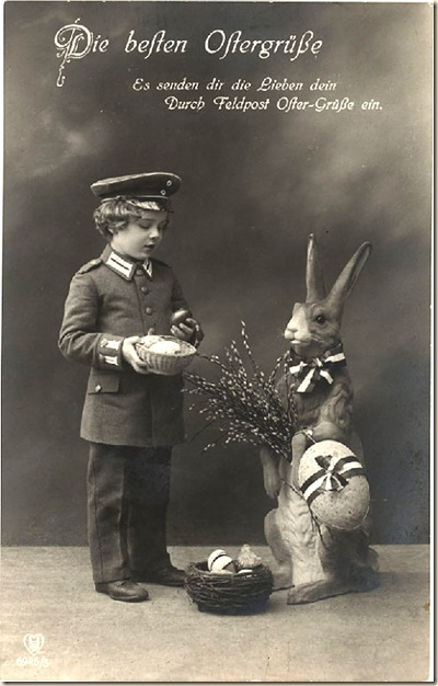 boy with large bunny