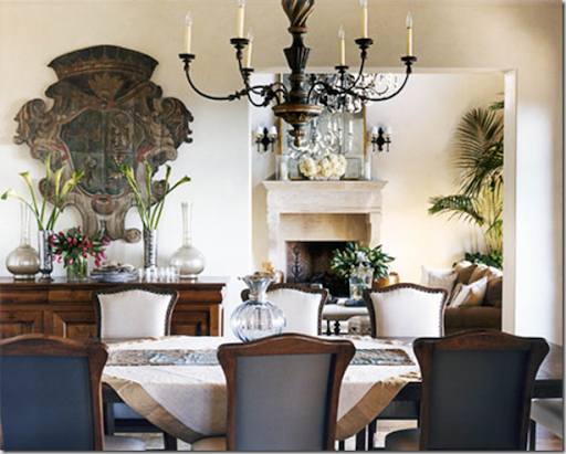 Christina Rottman creates an old-world Mediterranean sensibility with a rococo chandelier from Formations and an 18th-century Italian baroque wall hanging. & Developing Designs Blog by Laura Jens Sisino : February 2010 azcodes.com