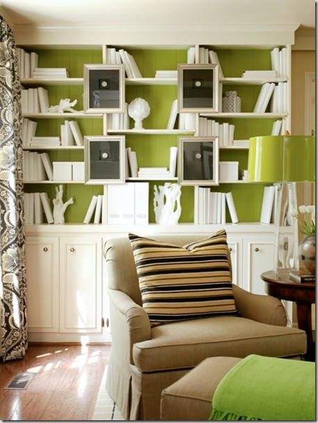 tobi farley bookcase green background