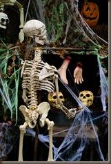skeletons grilling
