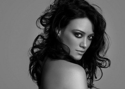 Hilary Duff Black White Photoshoot