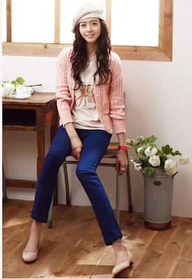 Beautiful Korean Actress Ko Ah Ra hairstyle