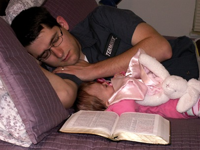 Elaine 17 weeks asleep during devotions