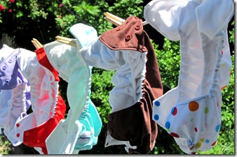 Clothesline diaper header