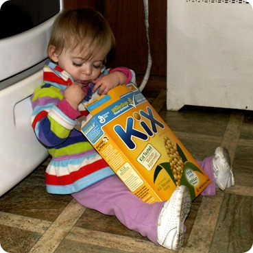 Elaine eats Kix