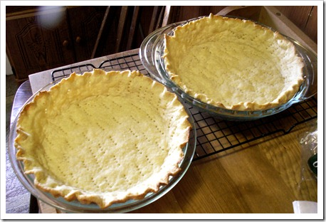 First homemade pie crusts