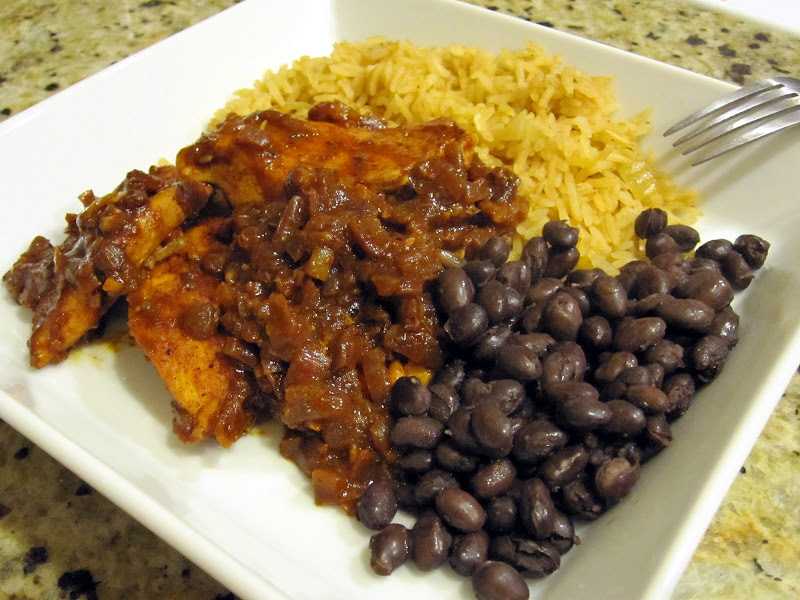 chicken with taco seasoning and rice and beans