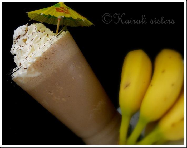 Choco banana milkshake